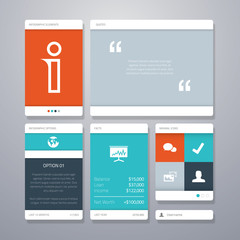 User interface vector template elements