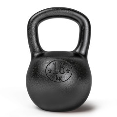 Black sporting kettlebell isolated on white background