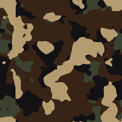 woodland camouflage seamless pattern background vector