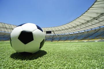 Football Soccer Ball Green Grass Pitch
