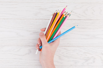 Colour Pencils in hand