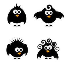 funny and sweet bird vector