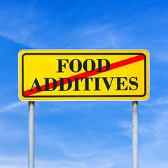 Food additives prohibited