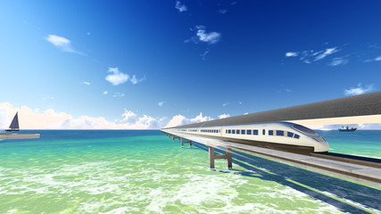 Magnetic levitation train in the ocean # 1
