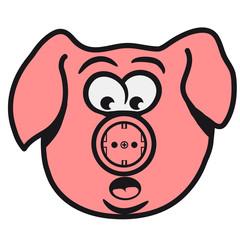 Schwein witzigSteckdose