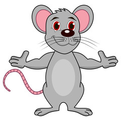 a standing adult mouse