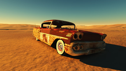 Wall Mural - Rusty car
