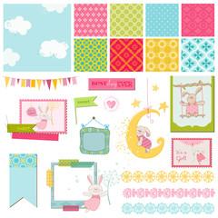 Scrapbook Design Elements - Baby Bunny Sweet - in vector