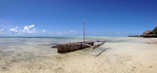boat at jambiani beach zanzibar