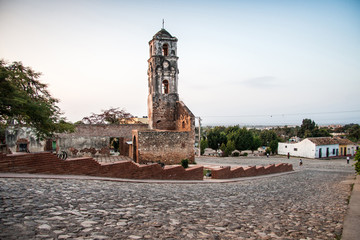 ruin of the church Iglesia de Santa Ana in Trinidad, Cuba, Carib