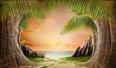 Dreamy beach landscape backgrund
