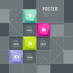 Modern posters squares template for business design