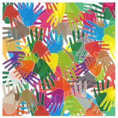 astratto di mani colorate