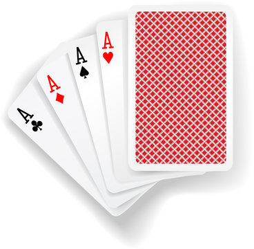 Aces poker playing cards game