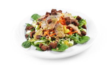 salad of marinated pork