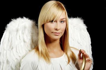 Blonde angel portrait