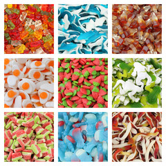 jelly candies collage