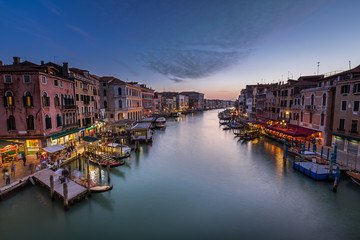 Fototapete - View on Grand Canal from Rialto Bridge, Venice, Italy