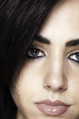 Closeup of beautiful girl
