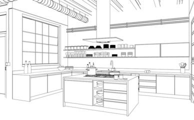 Plan neue Küche