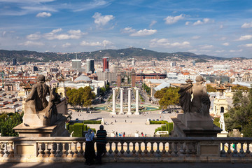 Piazza di Carles Buigas, Barcellona, Spagna
