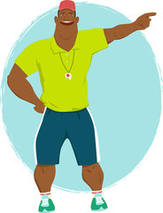 Black male summer camp counselor
