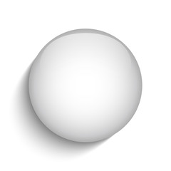 White Glass Circle Button Icon