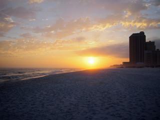 Sonnenuntergang Golf von Mexico