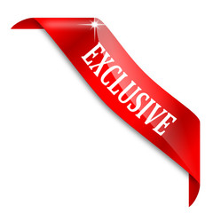 Red narrow corner with the word exclusive - vector