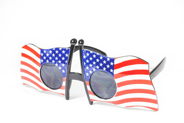 Glasses stripes American flag