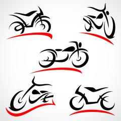 Motorcycles set. Vector