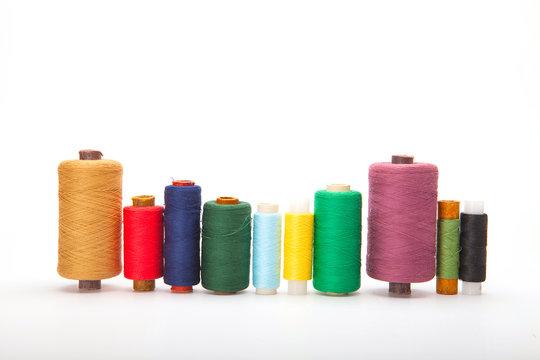 Color threads located as a rainbow