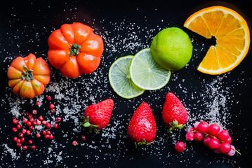 frutta e pomodori