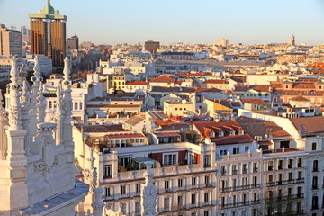 Madrid city from Cibeles palace, Spain