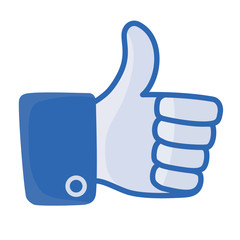 thumb up vector, like button