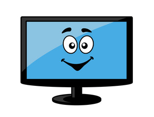 Television screen or computer monitor