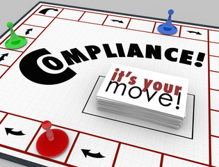 Wall Mural - Compilance Board Game Follow Rules Regulations Laws