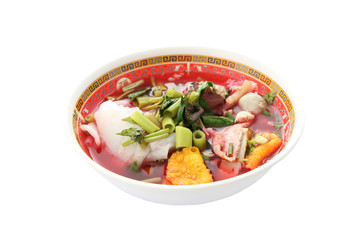 Thai Noodles of local foods in china style.