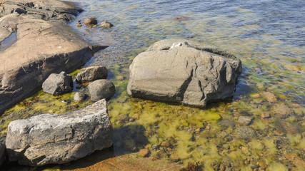 Västervik, Schären, Küste, Felsenlandschaft, Sommer, Schweden
