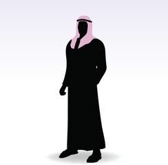 man in middle east style clothing