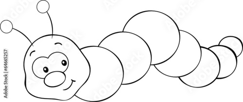 Kriechende Raupe Ausmalbild Stock Image And Royalty Free Vector