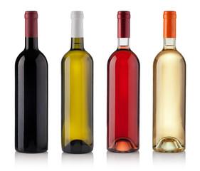Set of Bottles isolated on white background
