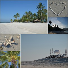 collage of beach paradise
