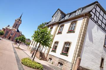 Blick auf Stadtkirche in Bad Arolsen