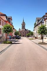 Innenstadt von Bad Arolsen mit Stadtkirche
