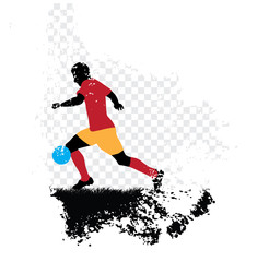 Soccer player. Vector