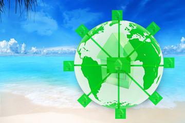 Green eco Concept - 3D Rendering