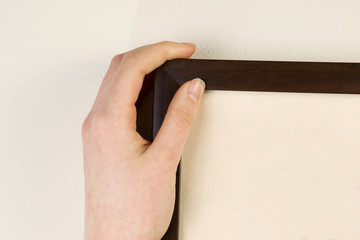 Hanging Picture Frame on home interior wall