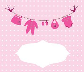 vector newborn baby girl clothes