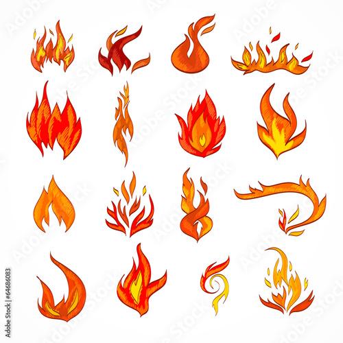 Тату пламя эскиз